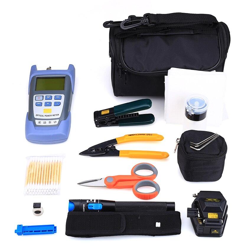 KELUSHI 18pcs / set FTTH Tool Kit con SKL-6C Fiber Cleaner Medidor de - Equipos de comunicación - foto 2