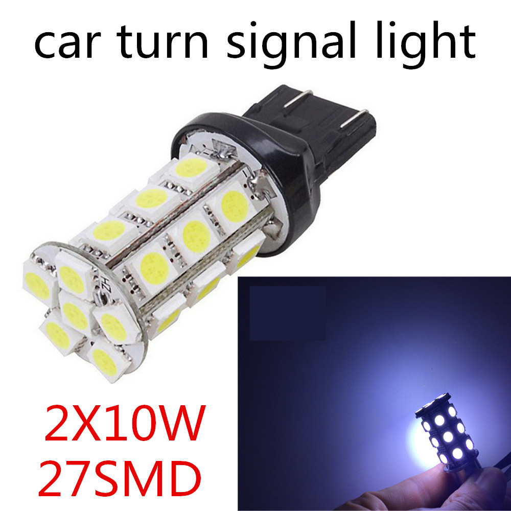 hot sale 2 pieces Car Brake Light 10W 27SMD 12V 5050 Led Turn Signals Rear Parking Reverse Lamps T25 3156 3157