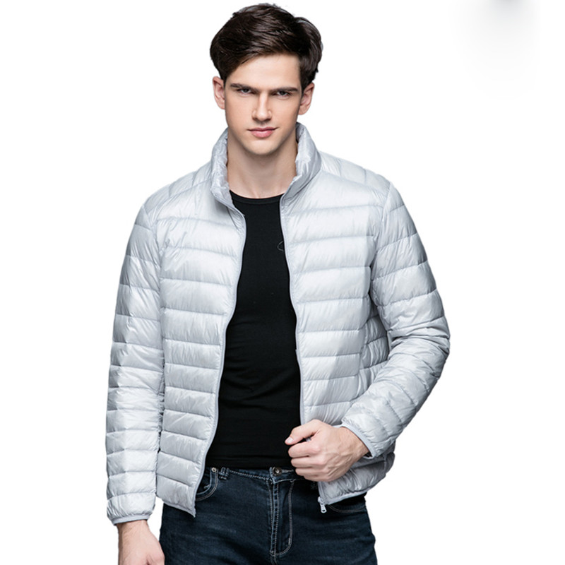 2018 New Autumn Winter Man Duck Down Jacket Ultra Light Thin Plus Size Spring Jackets Men Stand Collar Outerwear Coat