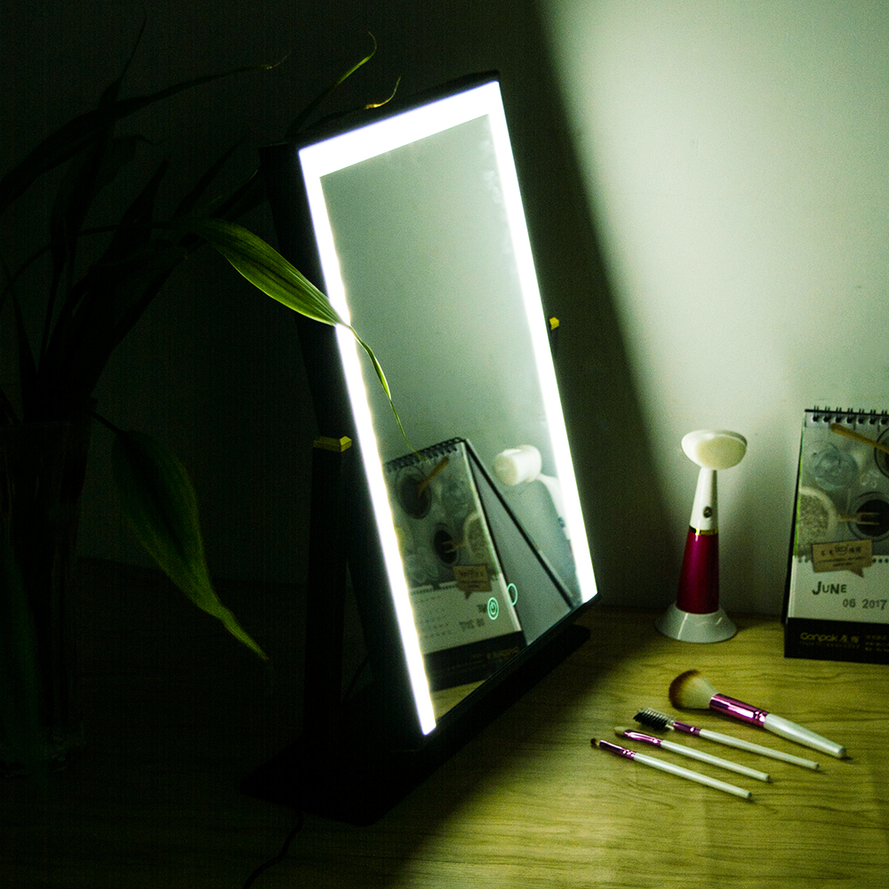 BEAUTMEI Vanity Makeup Mirror Table LED Lights Touch Screen Beauty ...