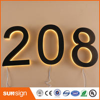 Factory Outlet Outdoor Acrylic LED House Letters And Numbers Home Numbers