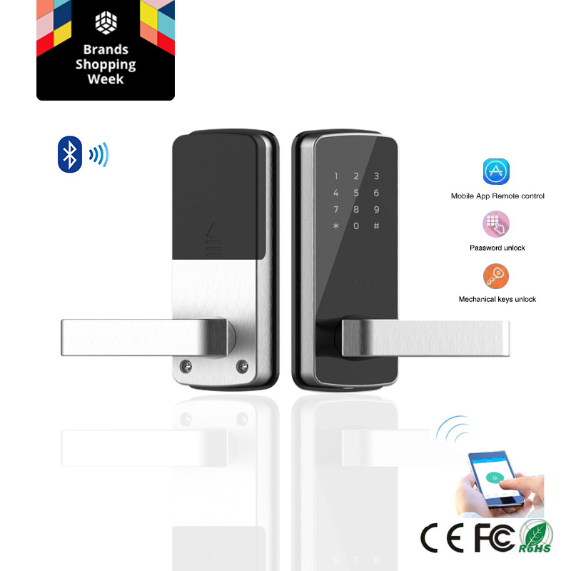 Бескнопочный электронный дверной замок Пароль Bluetooth цифровой умный дверной замок с TT замок приложение пульт дистанционного управления для ...