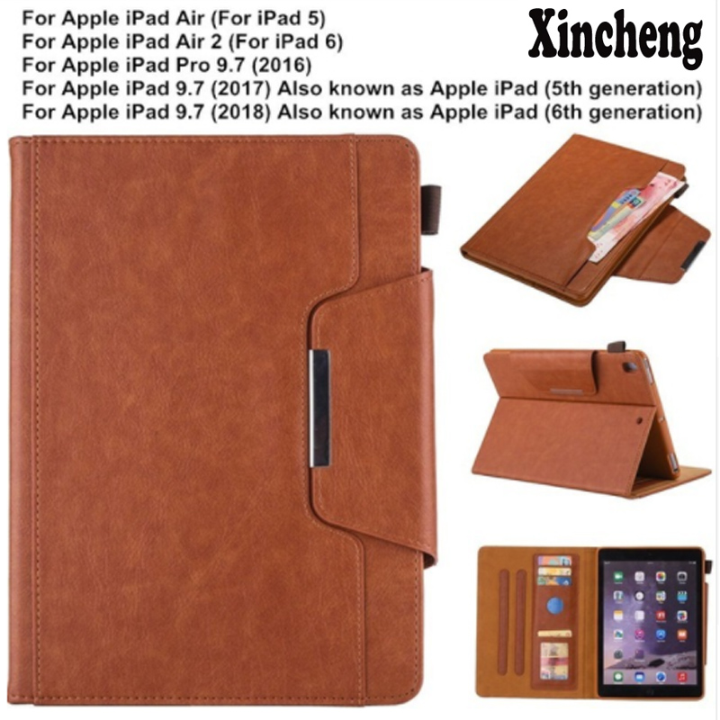 Case For IPad 9.7 5th 6th Pro 9.7 IPad 5 6 Premium Business Leather Stand Folio Case Cover With Card Pocket For IPad Air 2 1