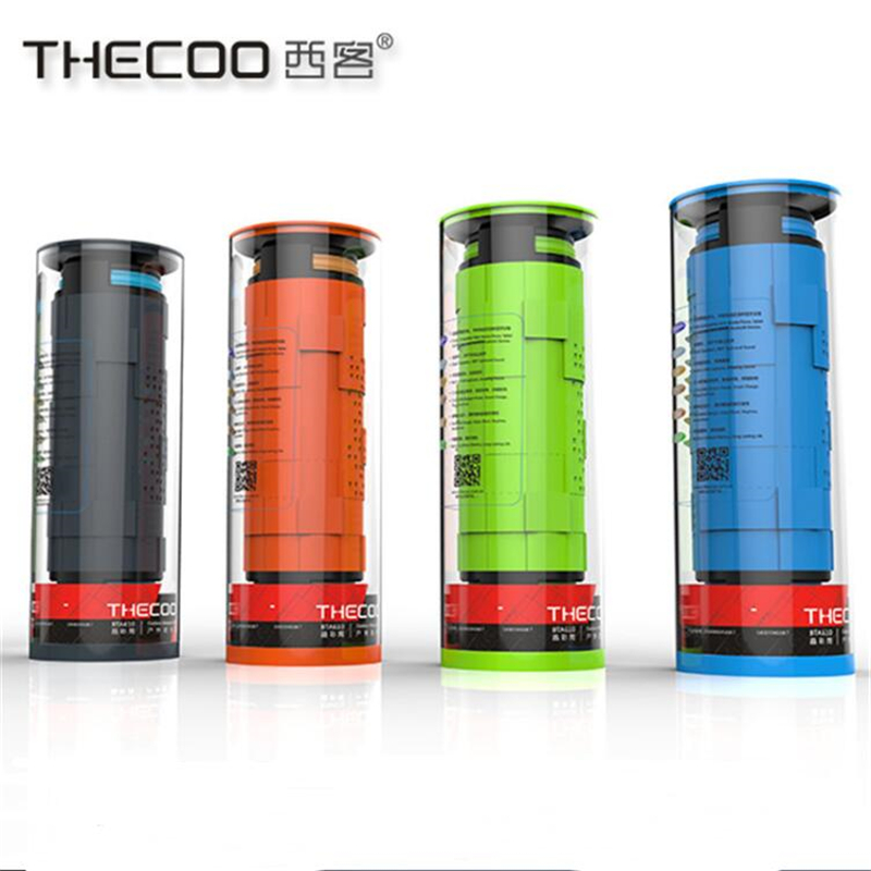 THECOO Patent Bluetooth 4.0 Wireless Protable Waterproof & Dustproof & Shockproof Sport Bluetooth Speaker for Outdoor Riding