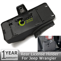 Cauda traseira Da Placa De Licença Automática De Montagem Titular Bracket Fit Com 12 V Lâmpada Luz Para Jeep Wrangler Unlimited JK 2007 ~ 2014 68064720AA