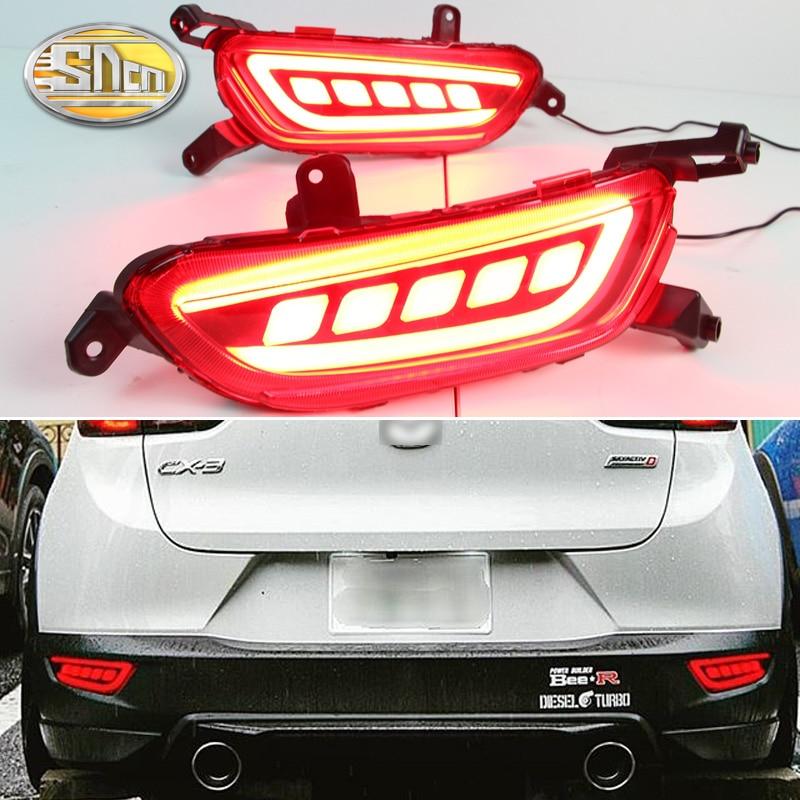 For Mazda CX 3 CX3 2015 2016 2017 2018 2019 SNCN Multi function Car LED Rear