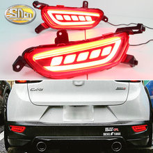 For Mazda CX-3 CX3 2015 2016 2017 2018 2019 SNCN Multi-function Car LED Rear Fog Lamp Bumper Light Brake Light Turn Signal Light(China)