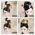 Hairpin Phoenix Coronet Headwear Chinese Ancient Costume Jewellery Handmade Metal Headdress for KURHN OB27 Bjd Doll Accessories