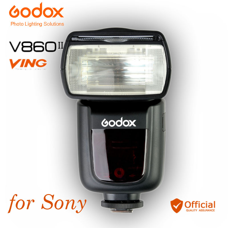 Godox V860II V860II-S TTL GN60 Flash Speedlite HSS 1/8000 Li-ion Battery for Sony DSLR A77 II A7R II A58 APP ILCE-6000L Camera godox v860iis flash speedlite 2 v860ii s ttl hss 2 4g li ion battery x1t s trigger for sony dslr cameras supon free gift kit