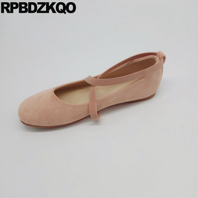 Detail Feedback Questions about Cute Shoes Kawaii Soft Ballet Flats Women  Size 33 Square Toe Elastic Pink Big China Large 10 Ballerina Suede 11 43  Cross ... 7a4122d96fd1