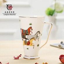 Европейский высококачественный костяной фарфор Марка чашки, костяной фарфор чашка кофе чашка в подарок предметы интерьера