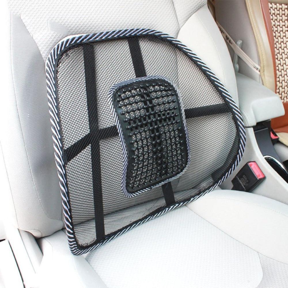 Car Massage Waist Cushion Summer Cool Hollow Breathable Car Cushion Air Net Comfortable Waist Support