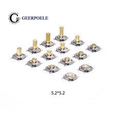 5,2*5,2 высокая 1,5-6,0 сенсорный переключатель тактичности 4 контактный кабель с металлическим SMD Тактильные 12V Кнопочный микропереключатель медное основание