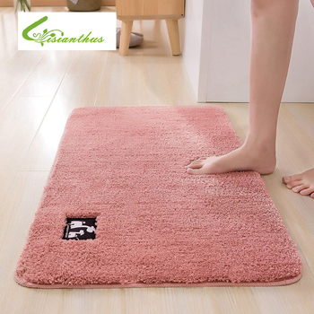 Solid Color Rugs Pink /Grey Carpet Thicker Bathroom Non-slip Doormat Area Rug for Living Room Soft Child Bedroom Mat image
