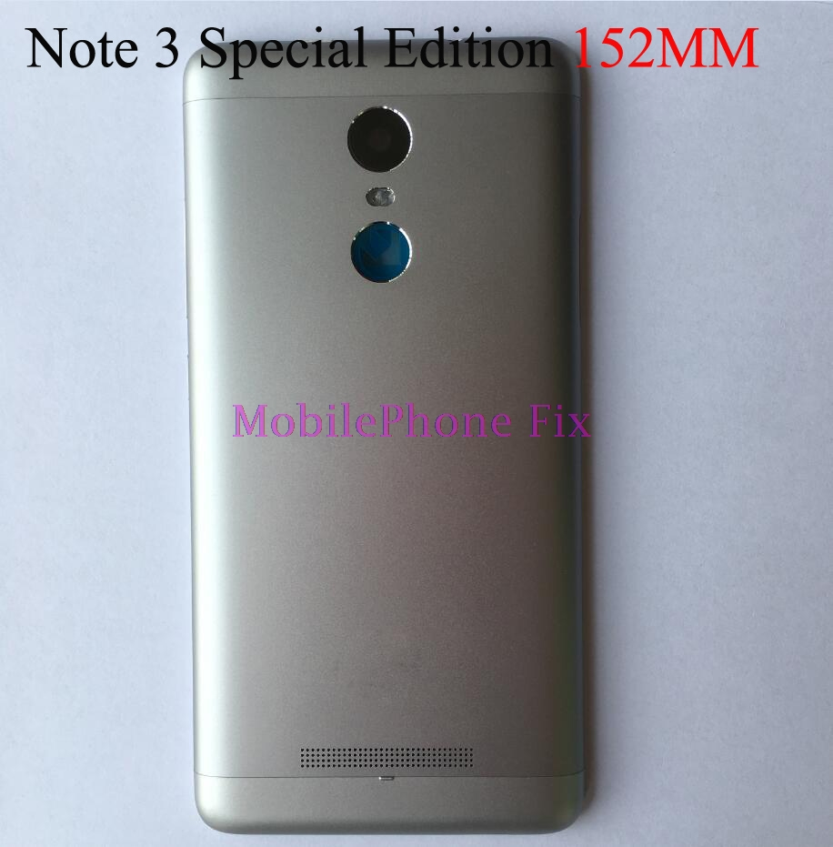 For Xiaomi Redmi Note 3 Pro 152mm Special Edition SE Metal Back Battery Housing Door Cover +Side Button Set+ Camear Lens Cover