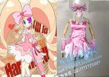 Бесплатная доставка убить ла убить вышивки крестом руи косплей костюм розовое платье с волосами с бантом