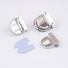 10 комплектов серебряного цвета замок на багажник сумка Аксессуары Кошелек защелкивающиеся застежки/закрывающие замки 32x32 мм J1823
