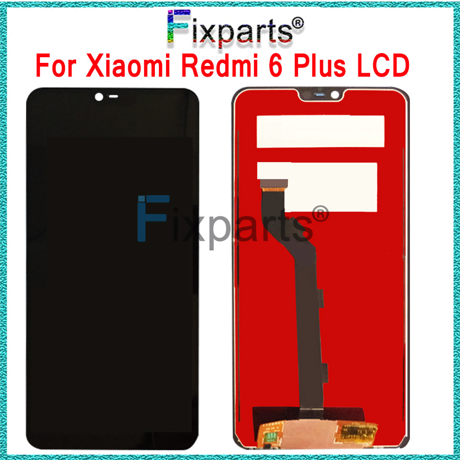 100% Original Test Work Well Xiaomi Redmi 6 Plus LCD Display Touch Screen Digitizer Assembly Replacement Parts