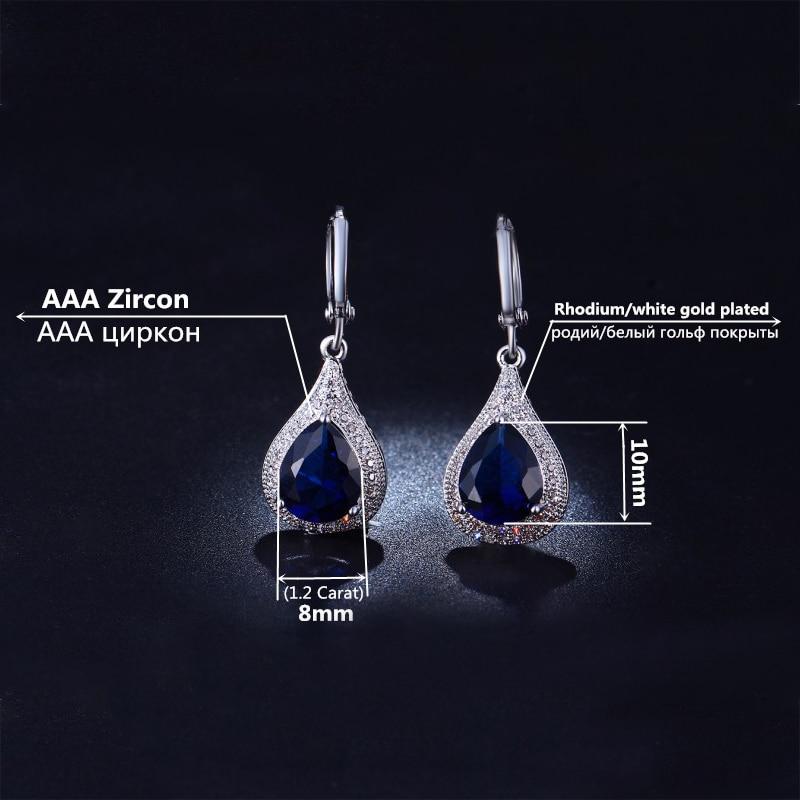 Cercei de bijuterii DODO Femeie Albastru strălucitor Cristal Vintage - Bijuterii de moda - Fotografie 5