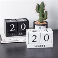 2019 Ins креативный скандинавский стиль деревянный стол календарь Декор для дома, настольный календарь особый подарок на день рождения