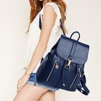 Vinniek Vintage Bagpack Backpack Women High Quality PU Leather Soft School Bag For Teenage Girls Daily