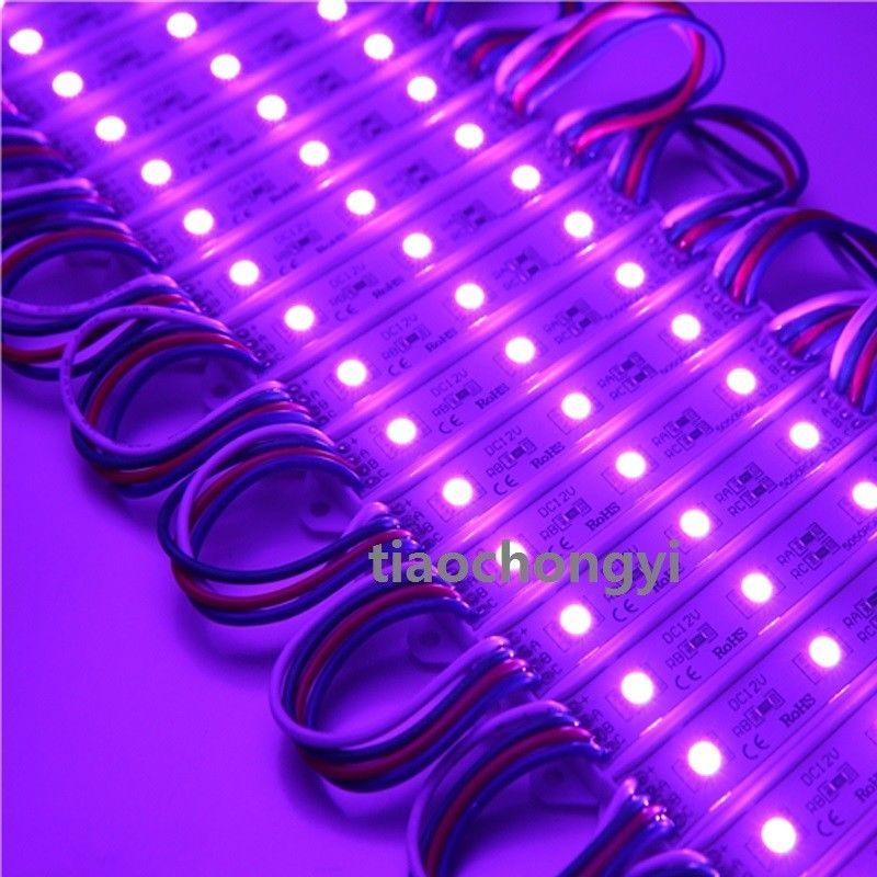 100 pcs/lot 12 V 5050 3 LED s RGB LED Module lumière + 2.4G contrôleur RGB + alimentation LED - 6