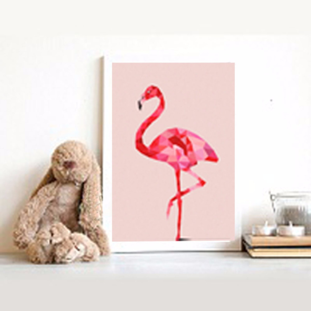 modern nursery pink Flamingo canvas print artwork poster,home decor wall art.home Wall Decor Print painting, decoration painting