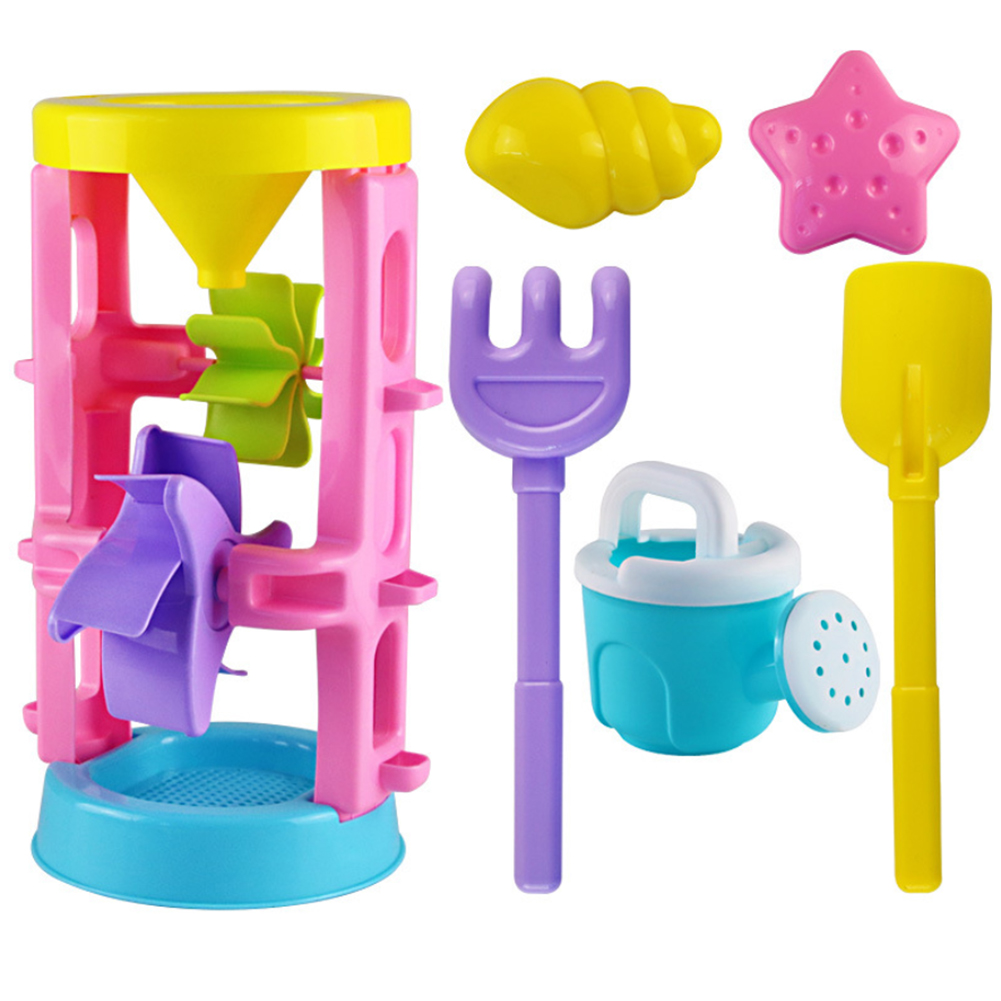 Summer Funny Water Beach Sand Play Toy Sandbox Seaside Shovel Toys Double Wheel Hourglass Shove Animals For Children