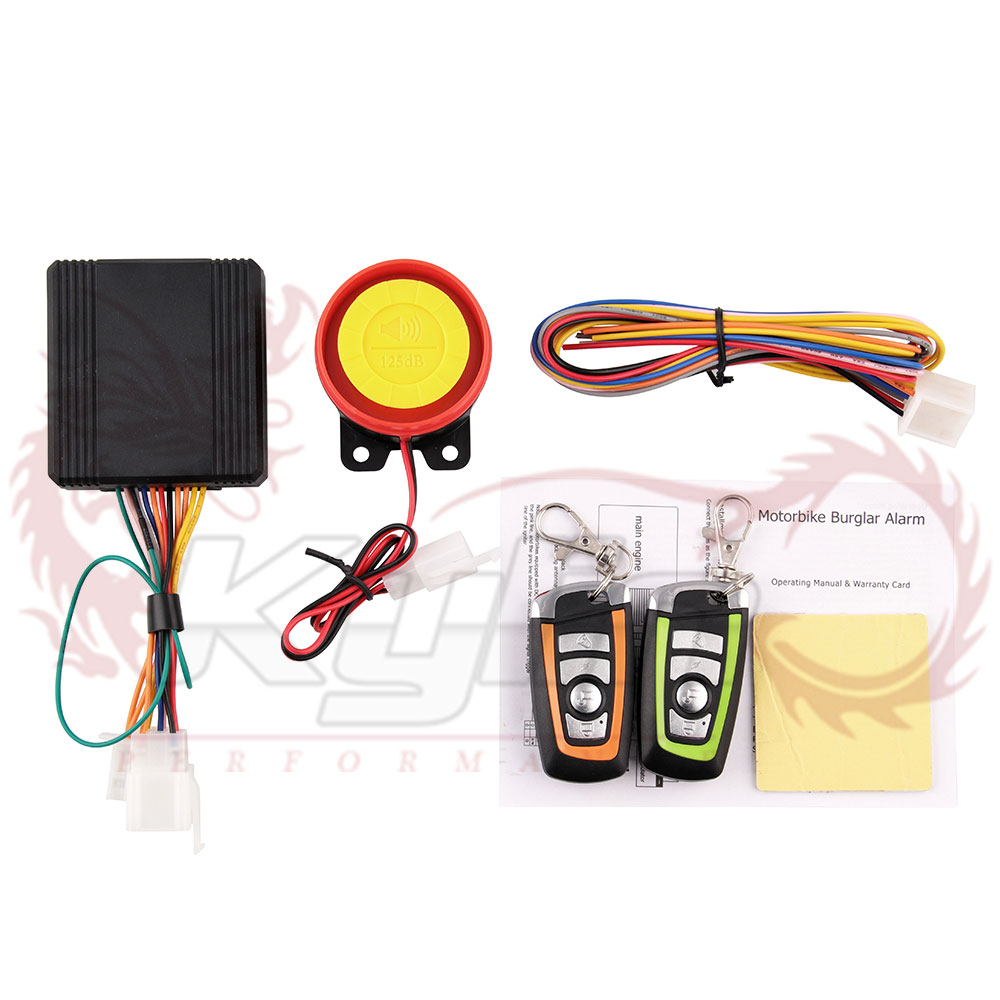 BOMPA Motorcycle Anti-theft Security System Motorbike Remote Control Alarm System