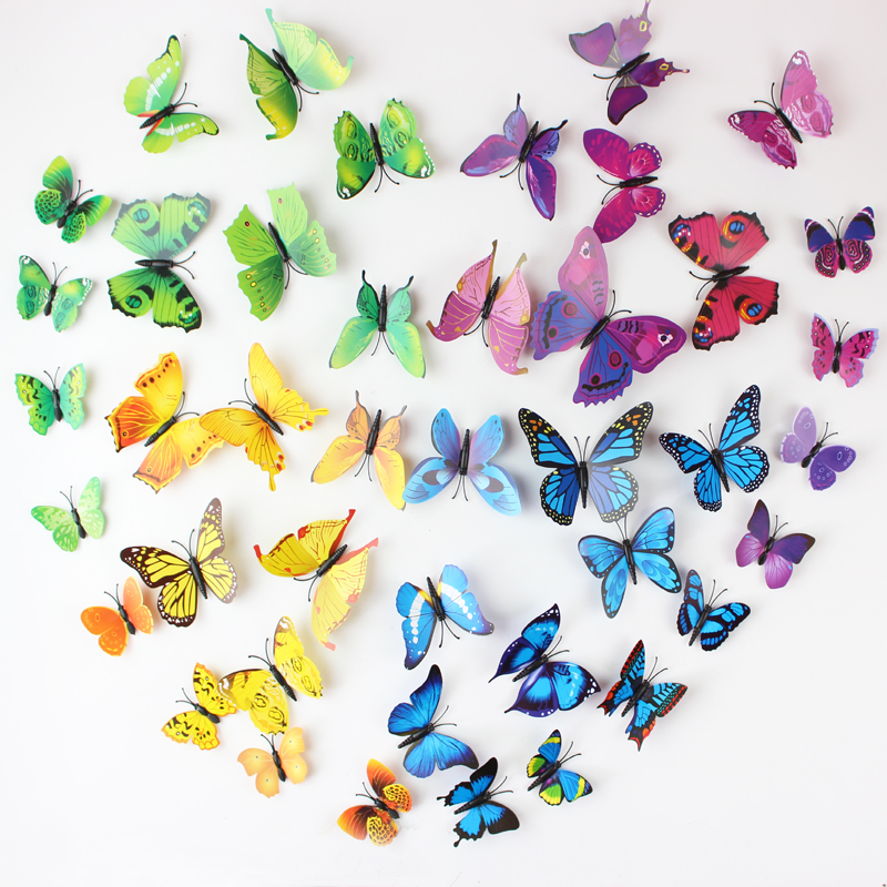 Aliexpress.com : Buy 12PCS/SET PVC 3D Butterfly Wall Sticker Wall Art  Removable Home Decoration DIY Crafts Stcikers Home Decor Gifts For Kids Wall  from ...