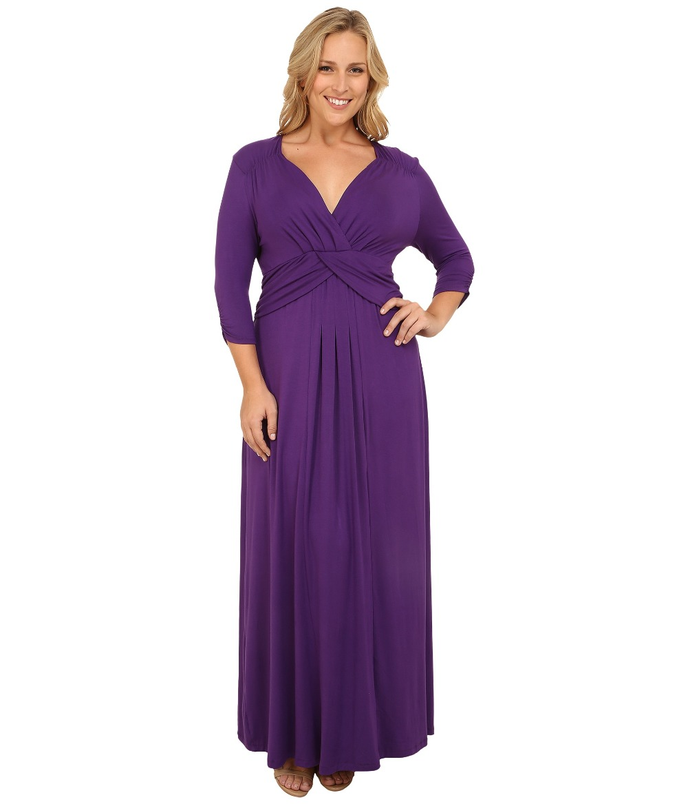 Black and purple maxi dress