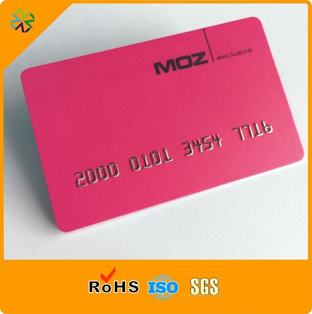 Emboss Folding Plastic Business Cards/ PVC Membership Cards