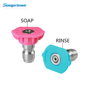 Image 1 - Sooprinse Second Story Quick Connect foam Nozzle tip for car Wash Soap and Rinse Jet Stream, Long Range Nozzle,1/4 inch, 4000PSI