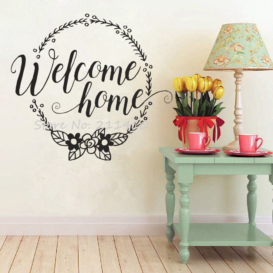Welcome Home Wall Stickers Home Decor Living Room Family