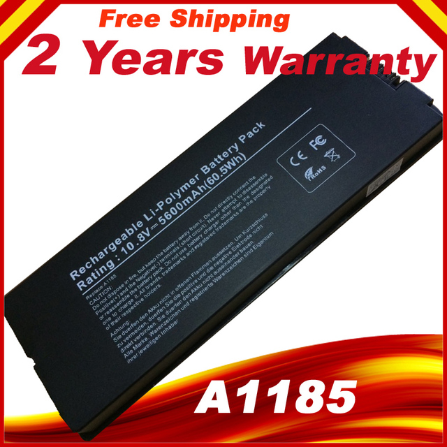 """Black Laptop battery For Apple MacBook 13"""" A1185 A1181 MA561 MA561FE/A MA561G/A MA254 MA255CH/A MA699B/A MB061X/A"""