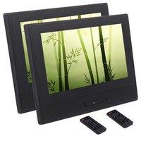 Пара dvd плеер автомобиля 8 дюймов HD цифровой TFT Экран подголовник Поддержка встроенный ИК & fm передатчик AUX Вход usb sd 1080 P видео