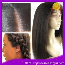 7A Italian Yaki Full Lace Human Hair Wigs Brazilian Virgin Yaki Straight Lace Front Wigs Glueless With Baby Hair For Black Women
