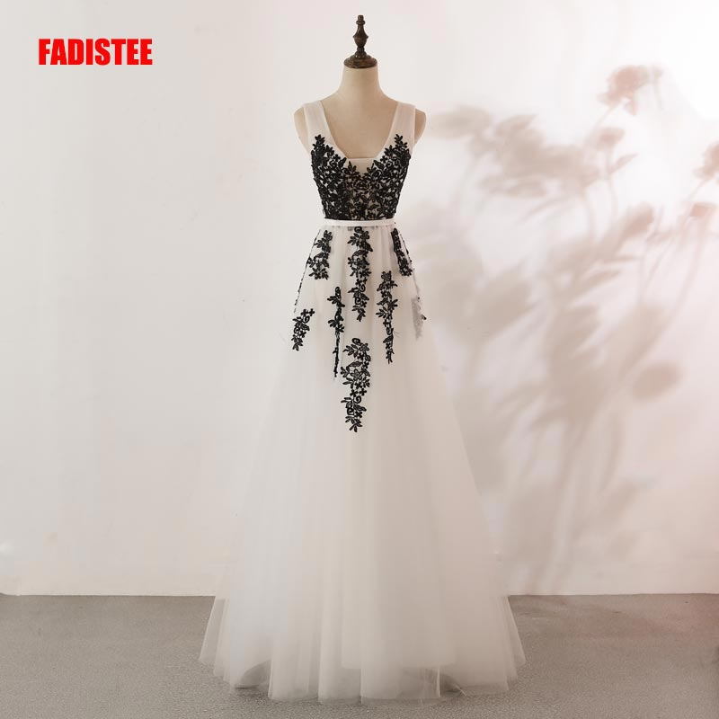 FADISTEE New arrival evening elegant   prom     dresses   Vestido de Festa gown Robe De Soiree lace V-neck lace appliques sexy   dresses