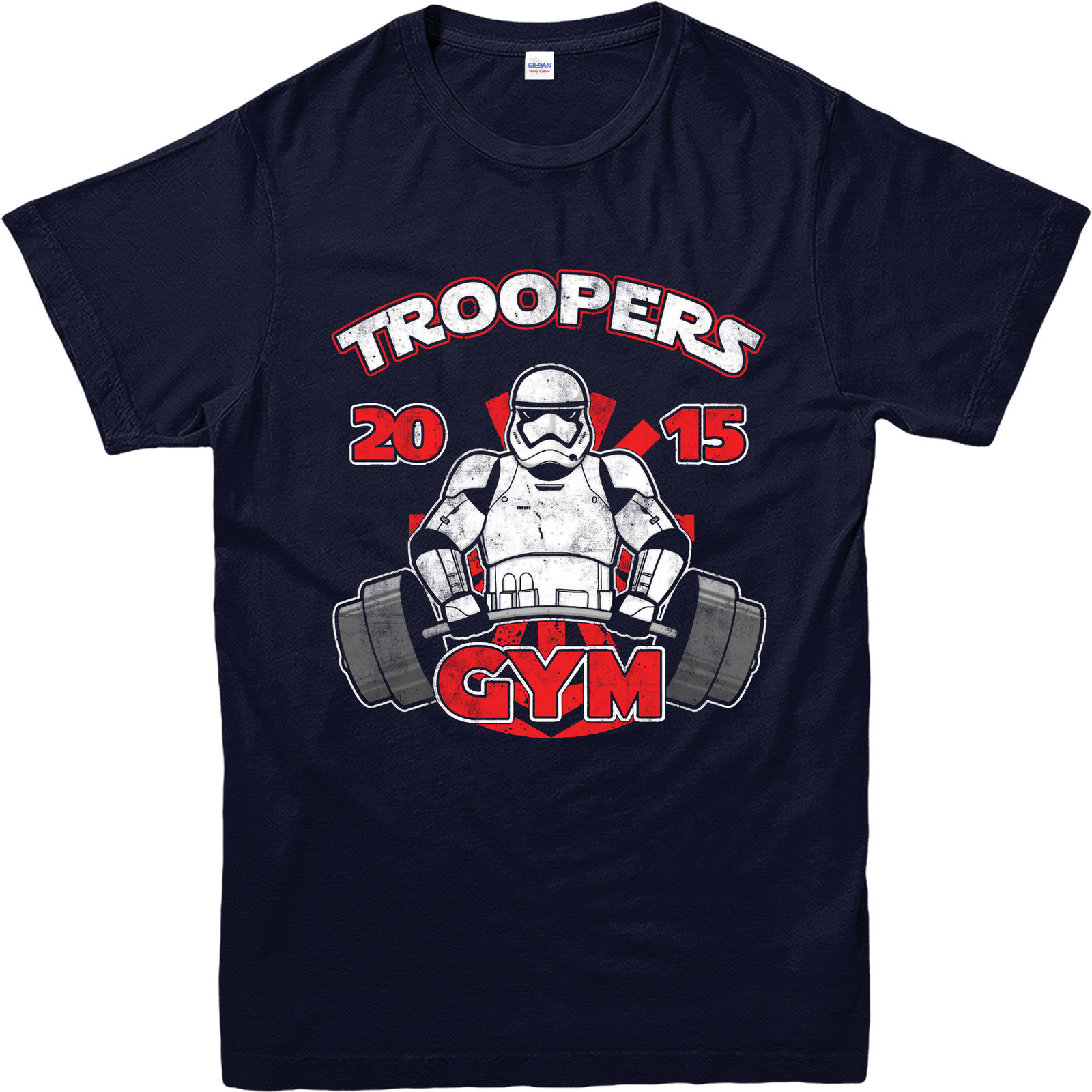Star Wars T Shirt Stormtrooper Gym BodyBuilding Spoof T Shirt Inspired Top Youth Round Collar Customized T Shirts free shipping in T Shirts from Men 39 s Clothing