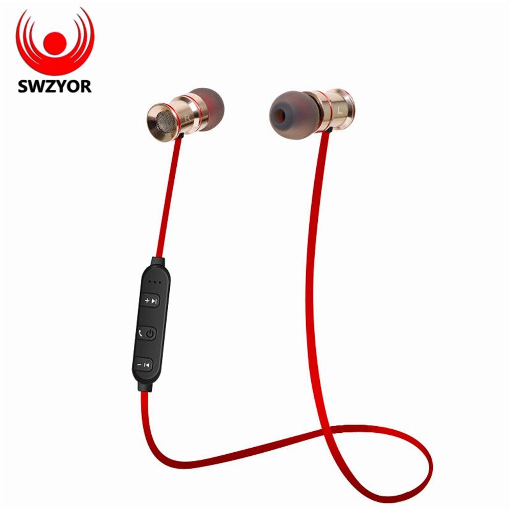 SWZYOR S921 Wireless Bluetooth Earphones Sweatproof Sports Headphone Magnetic absorption Stereo Microphone for Xiaomi Auricula
