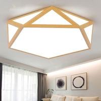 modern LED Ceiling Lights for Bedroom kitchen with remote control ceiling lamp Wooden meters house flush moun det light fixture