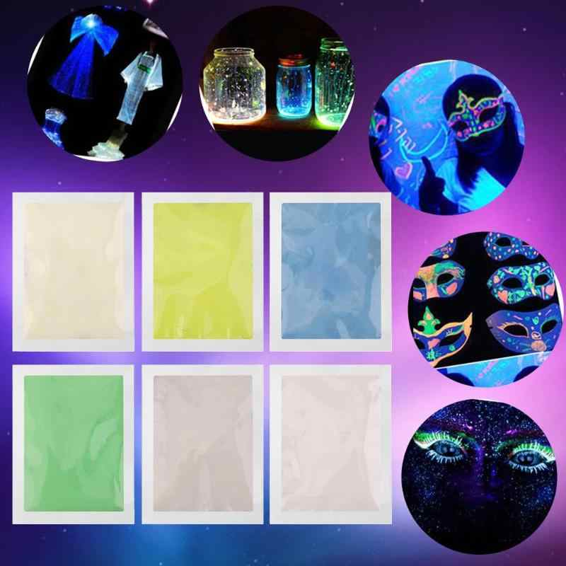Fashion Super Bright Glow in the Dark Radiationless Luminous Powder Super Bright Luminous Pigment Glow Fluorescent Dust Toy