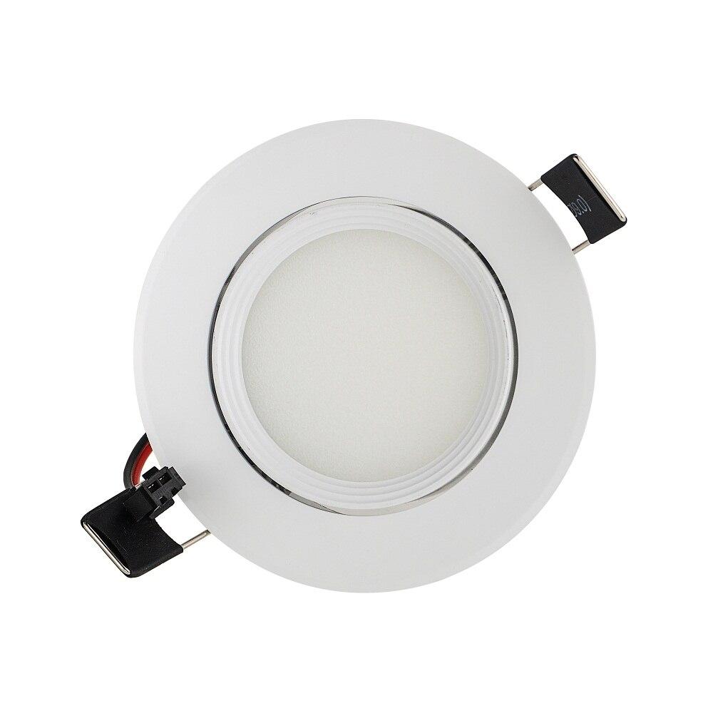 50 шт. 3 Вт 6 Вт 9 Вт AC85V-265V 110 В/220 В downlight встраиваемые светодиодные стены лампы пятно света с привело драйвер для дома Освещение