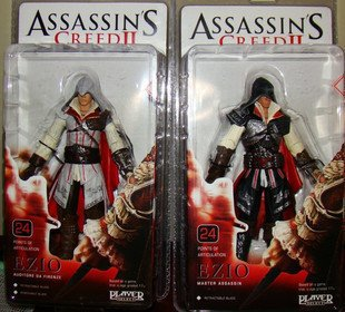 ФОТО Assassin's Creed 2 Ezio S tandard& Black Flgure 2pcs Set