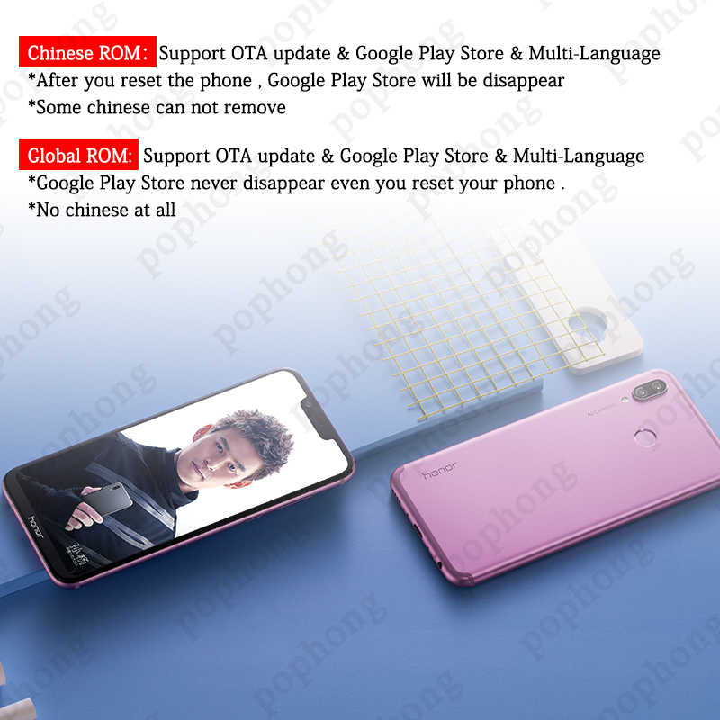 Global Firmware HUAWEI honor Play 6 3 inch Kirin 970 Octa Core Android 8 1  Cellphone 2340x1080 Quick Charger 9V/2A 16 0MP