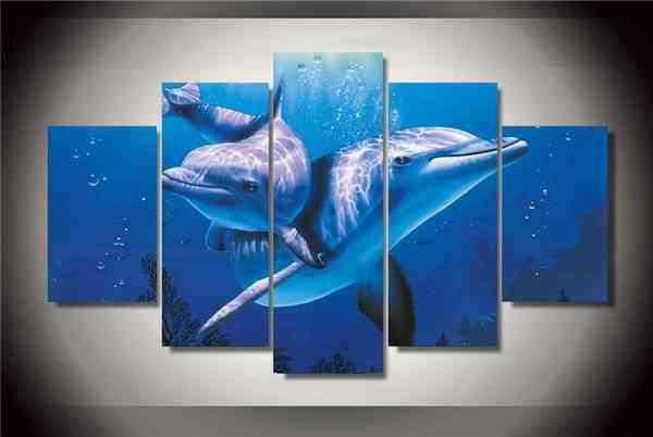 Hd impreso Animal Delfin pintura lienzo imprimir habitación decoración imprimir cartel imagen lienzo envío gratis/Ny-2976 NO enmarcado con