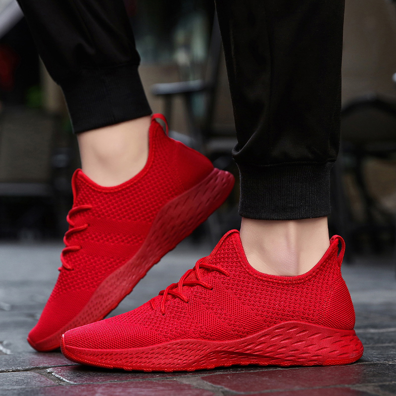 Bomlight Red Loafers Shoes Sneakers
