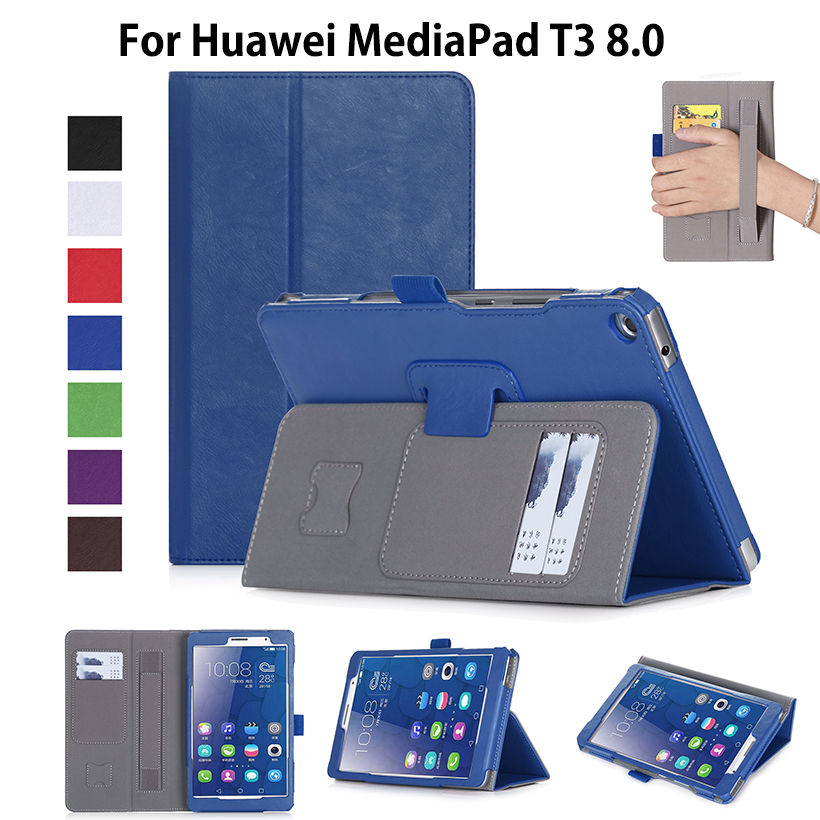 Case For Huawei MediaPad T3 8.0 KOB-L09 KOB-W09 Cover Funda Tablet Leather Holder Stand Case For Honor Play Pad 2 8.0+Film+Pen fashion case for huawei mediapad t3 8 0 kob w09 kob l09 tablet pc for huawei mediapad t3 case cover