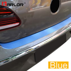 Rear Bumper Trunk Carbon Fiber Protection Scrach Film Sticker And Decal Car Styling For VW Volkswagen CC 2009-2016 Accessories