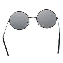 Trendy Men Women Metal Frame Black Lens Round Sunglasses Glasses Eyewear цена 2017